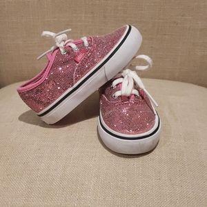 Vans Toddler size 6. Sparkly pink
